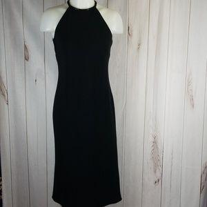 Ralph Lauren Beaded Halter Neck Elegant Dress LBD